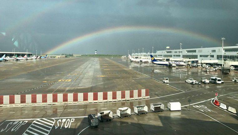 Het tarmac van Brussels Airport. Beeld Twitter Jesus Gallardo