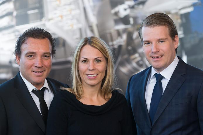 Van links naar rechts Pieter, Jennifer en Willem van der Leegte.