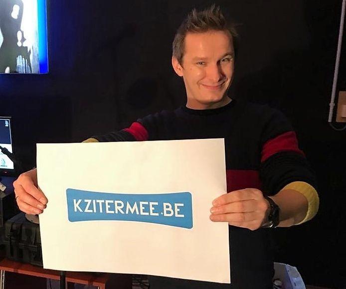 Zangerfrontman Pieter Deknudt van de Deerlijkse band Zinger.