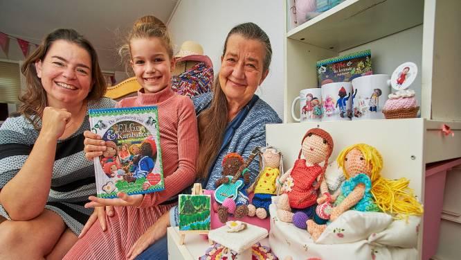9-jarige Sofie uit Oss schreef teksten, moeder maakte de foto's en oma haakte de hoofdfiguren voor nieuw kinderboek