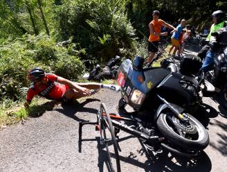 """Klacht Van Avermaet tegen motard die hem omver knalde """"op weg naar zege"""""""