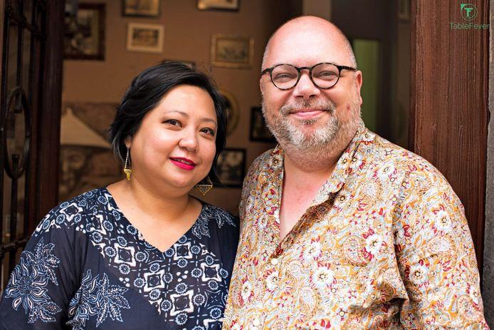 Siska Andaka en Philippe Schaillée, zaakvoerders van Gado-Gado.