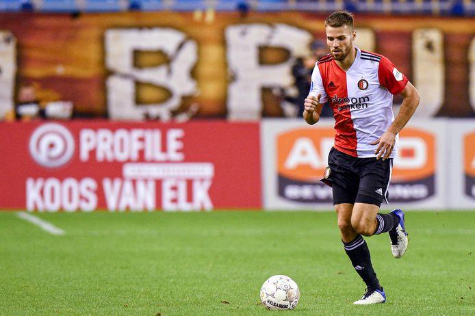 Bart Nieuwkoop in actie namens Feyenoord.