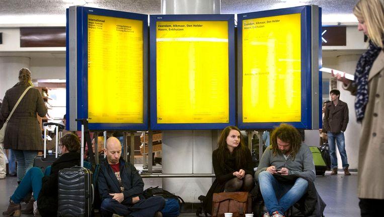 Het treinverkeer tussen Amsterdam CS en Leiden is gestremd Beeld anp