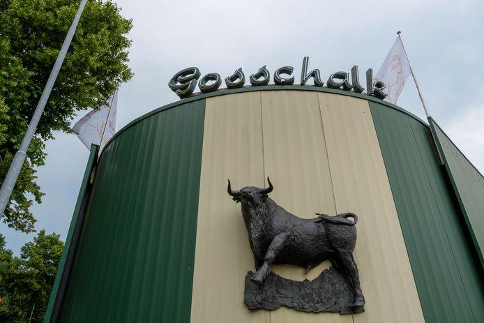 De entree van het pand van slachterij Gosschalk in Epe.