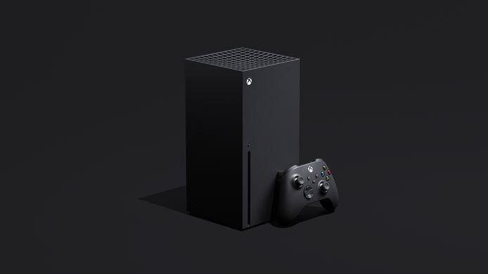 In de linkerhoek: de Xbox Series X, de krachtigste console van het moment.