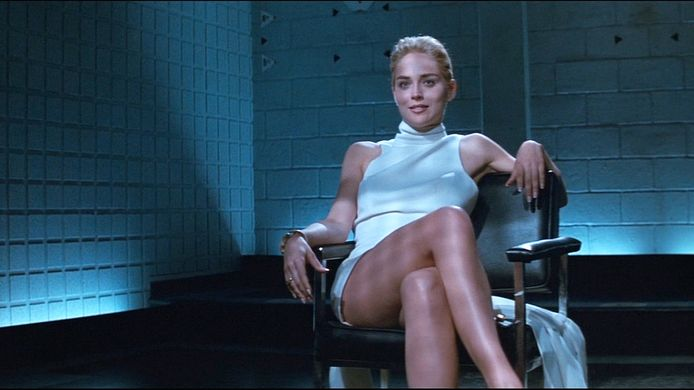 Sharon Stone in Basic Instinct (1992).