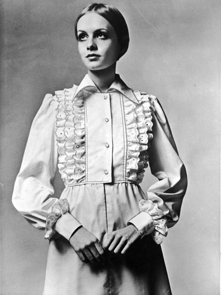 Iconisch Brits model Twiggy in 1967. Beeld Getty Images