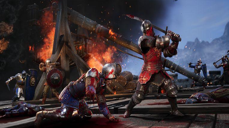 In elk geval één ridder die het niet lang meer gaat maken. Beeld Torn Banner