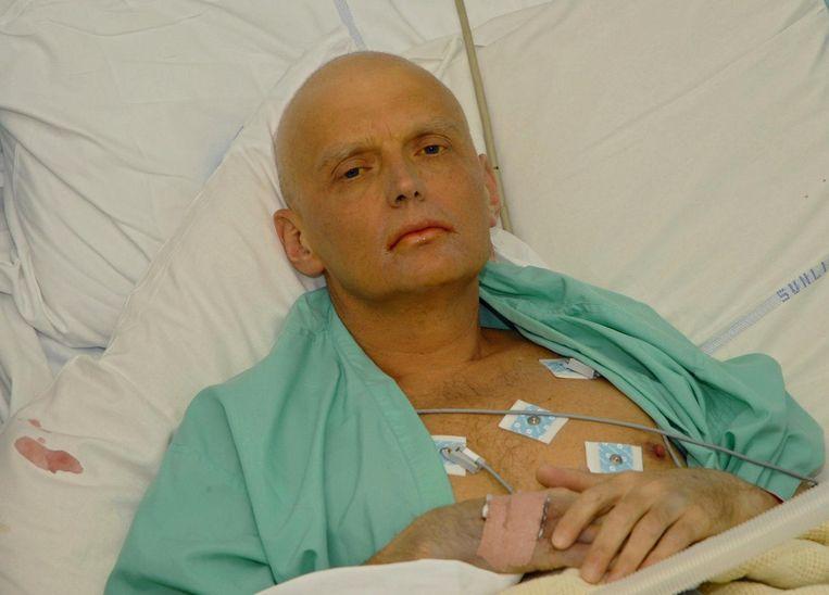 Alexander Litvinenko enkele dagen voor zijn dood. Beeld AFP