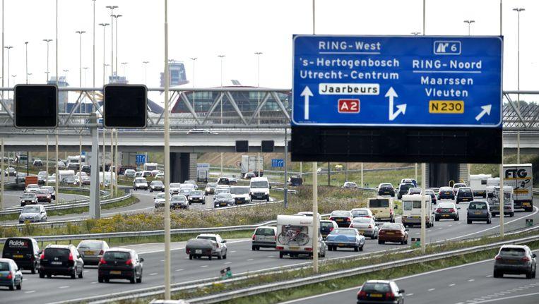 Foto van de snelweg bij Utrecht. Beeld ANP