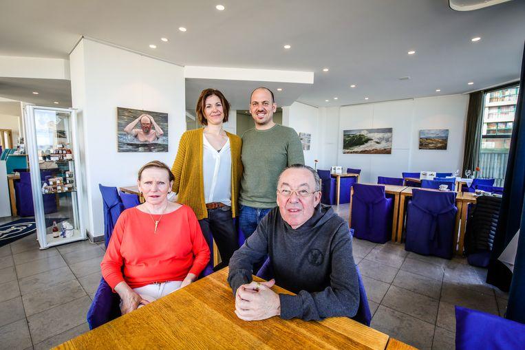 Eddy en Myriam met hun zoon Sidney en zijn vrouw Els