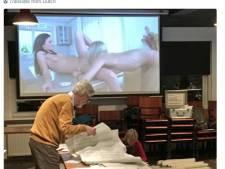 Geintje: porno op achtergrond tijdens stemmen tellen in Enschede