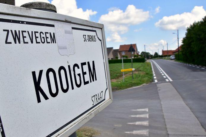 Op de Kooigemstraat in Sint-Denijs wordt vaak veel te snel gereden.