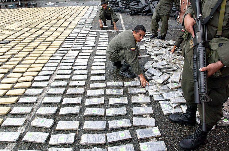 Grote hoeveelheden drugs, in beslaggenomen van het North Valley Cartel in Colombia (2005) Beeld ap