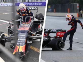 Drama voor Verstappen: klapband in slot kost Nederlander zege in GP van Azerbeidzjan, ploegmakker Pérez wint nadat Hamilton bij herstart bocht mist