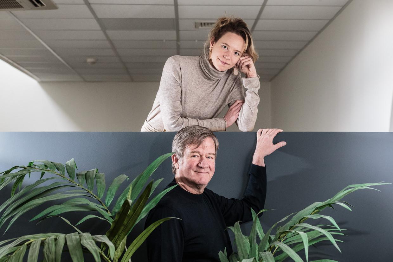 Wouter Torfs en zijn nichtje Lise Conix. Beeld Bob Van Mol