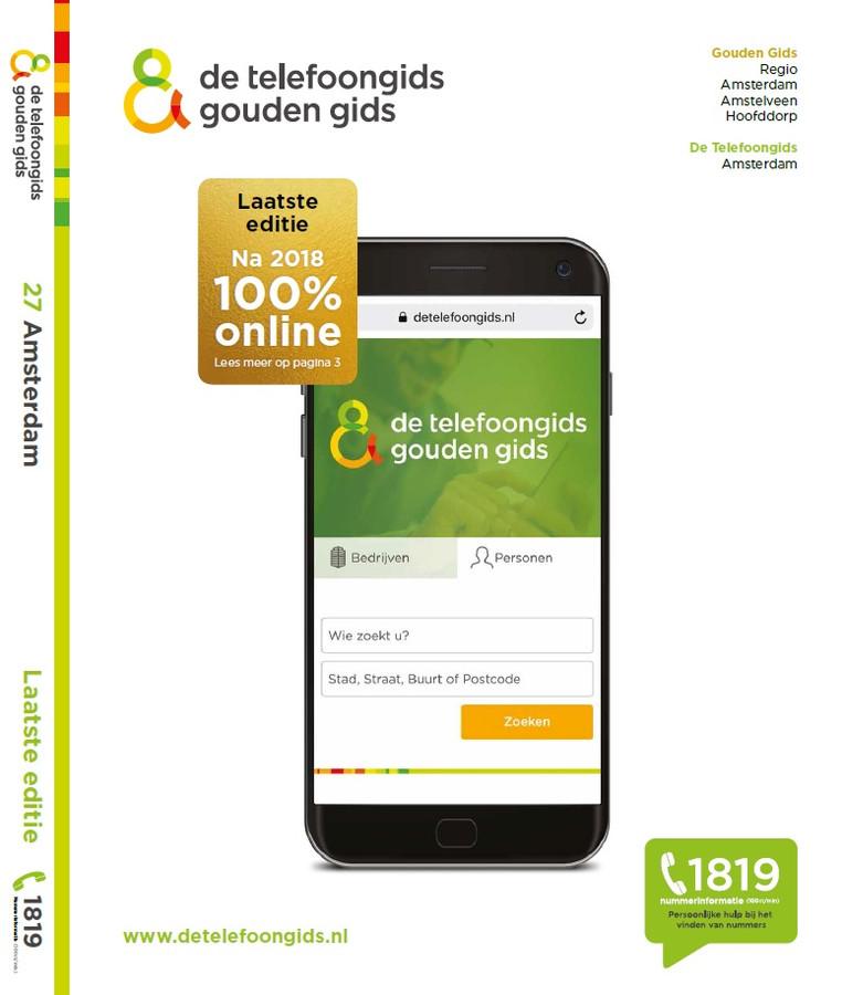 De allerlaatste Telefoongids, editie 2018.