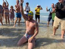 Matthieu Bonne devient le premier à parcourir la côte belge à la nage sur toute sa longueur