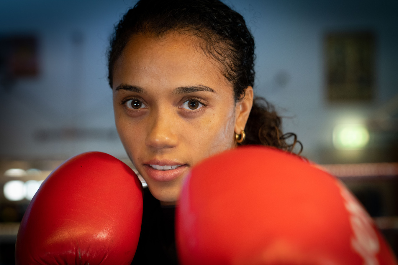 Jemyma Betrian onderweg naar haar eerste WK boksen, eerder in New Delhi..