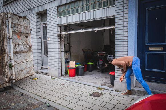 Buren komen even piepen bij de opruiming van de garage.