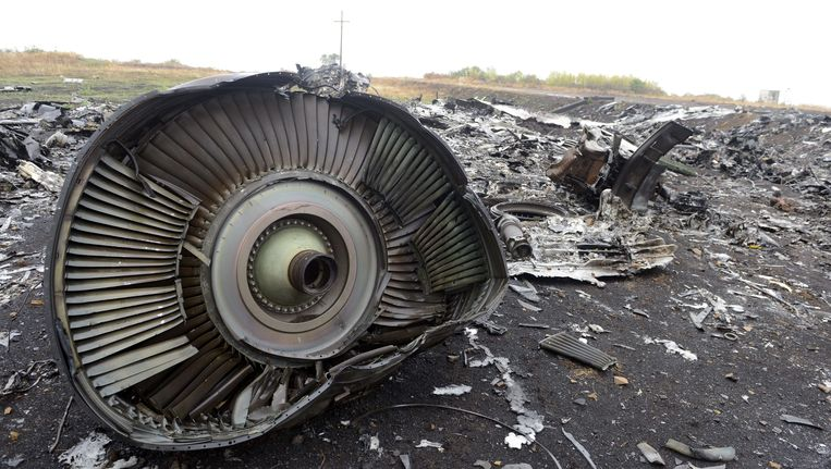 Deze foto werd gisteren genomen op de plek van ramp. Beeld AFP