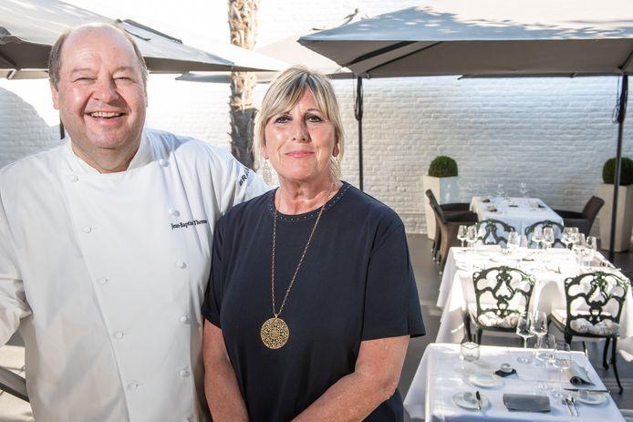 Jean-Baptiste Thomaes en echtgenote Lisbeth Sadoine: samen gestart op 20 juni 1981 in le Château du Mylord. Hij als chef, zij als jobstudente.
