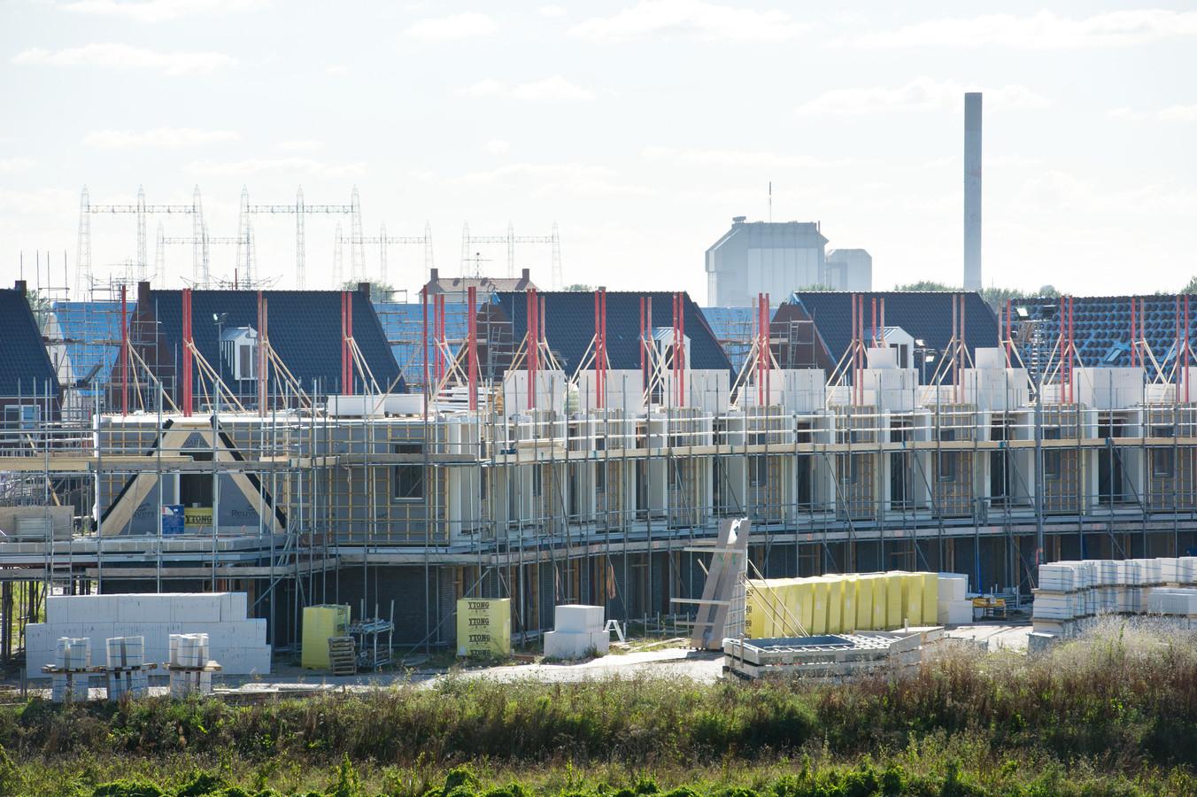 Nieuwbouw in de Waalsprong in Nijmegen. Archieffoto