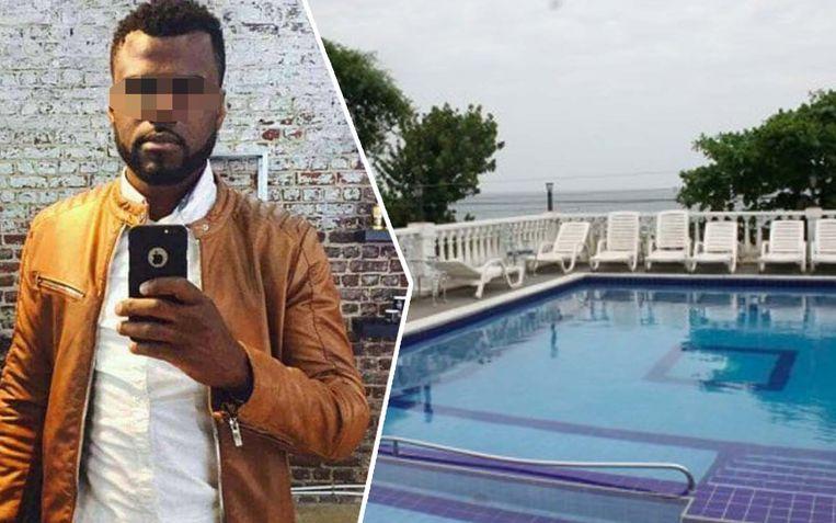 Nadat hij 31 uur op vrije voeten was, werd Bombile L. opgepakt in dit hotel langs de kust.