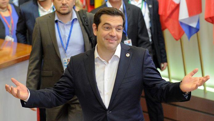 De Griekse premier Alexis Tsiparis.