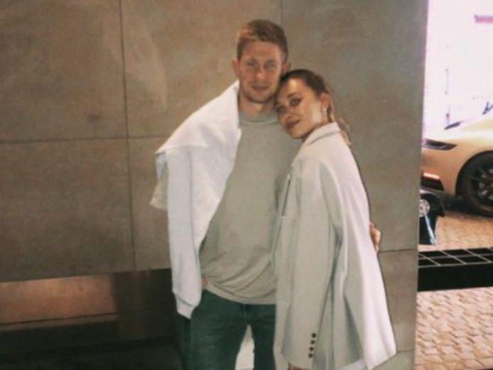 Kevin De Bruyne en Michèle in Amsterdam.