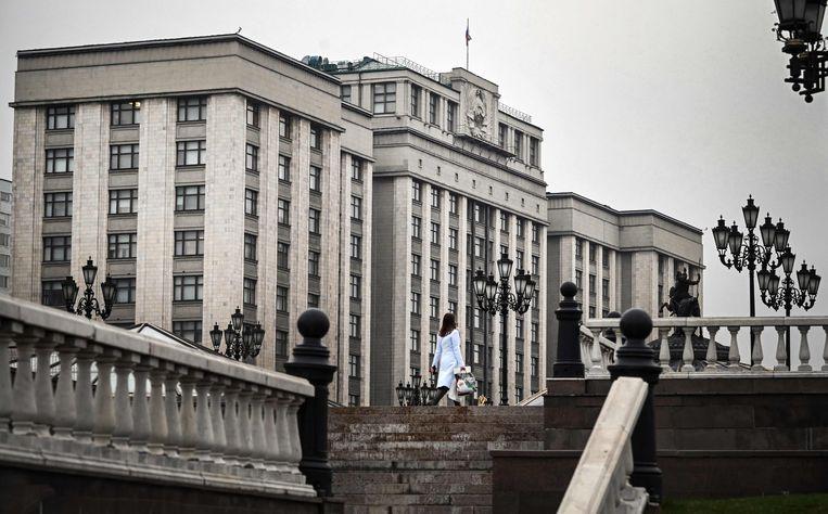 De Doema in Moskou heeft nieuwe wetten aangenomen om protestacties op alle vlakken te kunnen verbieden. Beeld AFP