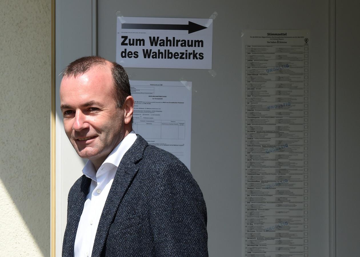 Manfred Weber, dimanche, après son vote