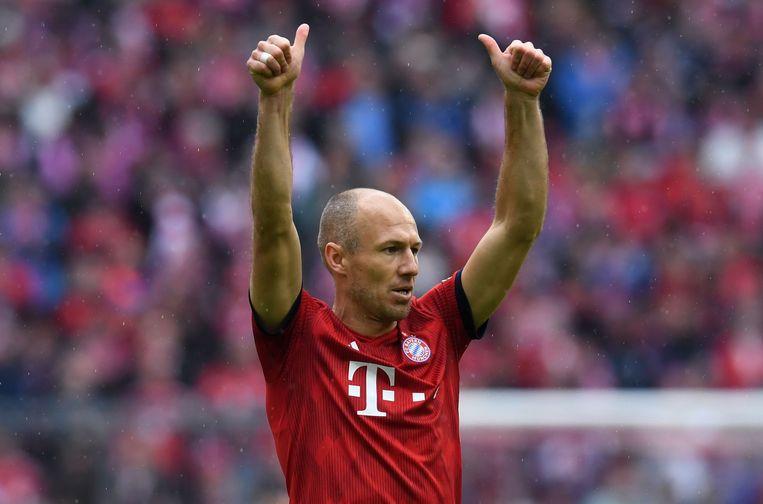 De beslissing om te stoppen was, zo verklaarde Robben, de moeilijkste uit zijn loopbaan.  Beeld AFP