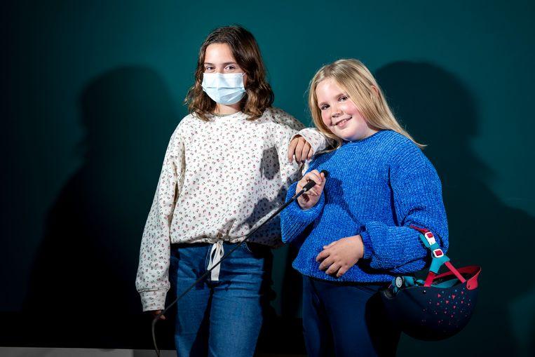 Janne (13) en Ninte (9). Beeld Photo News