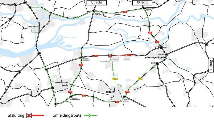 Wegafsluiting A59