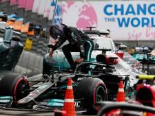 Hamilton na slippertjes en teleurstellende vierde plek: 'Dit was een ramp, ik ben teleurgesteld in mijzelf'