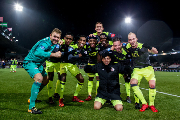 PSV viert de 1-2 zege op Sparta Rotterdam.