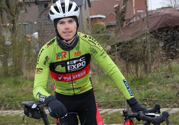 Ben Baele in het shirt van EFC-L&R-Vulsteke: de Zottegemnaar begint vrijdag aan de driedaagse La Sportbreizh.