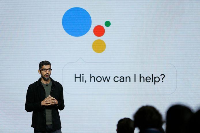 Sundar Pichai, le CEO de Google, lors d'une présentation à San Francisco, en octobre 2016 (archives).