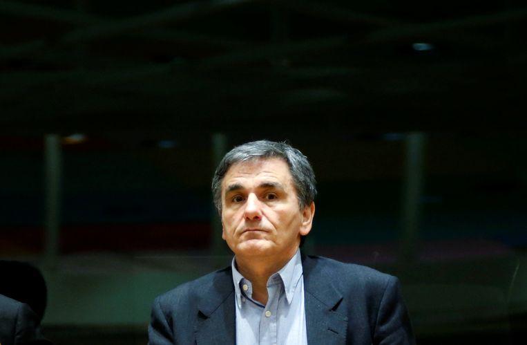 De Griekse minister van Financiën Tsakalotos. Beeld REUTERS