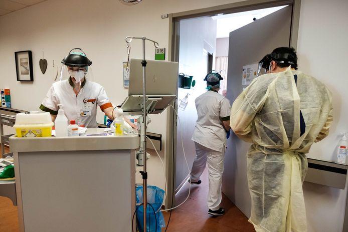 Dokters en verplegers in het Hasseltse Jessa Ziekenhuis.