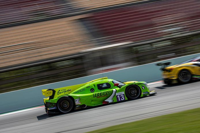 Ugo de Wilde op weg naar zijn eerste podium in de European Le Mans Series.