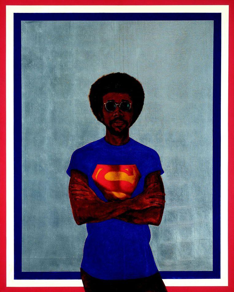 'Icon For My Man Superman' van Barkley Hendricks (1969). Beeld rvCollection of Liz and Eric Lefkofsky © Barkley L. Hendricks. Courtesy of the artist and Jack Shainman Gallery, New York