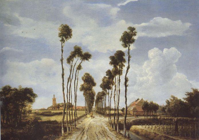 Het Laantje van Middelharnis, in 1689 geschilderd door Meindert Hobbema. Rechts op het schilderij is een meestoof te zien.