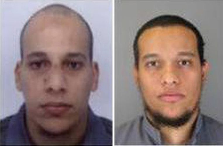 Door de politie vrijgegeven foto's van de verdachten Beeld afp