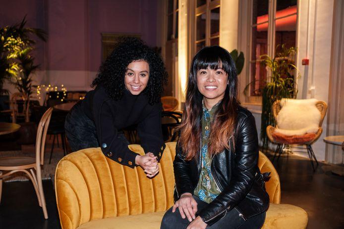Sihame El Kaouakibi en Erika Xuan Nguyen eind 2018 in JJ House.