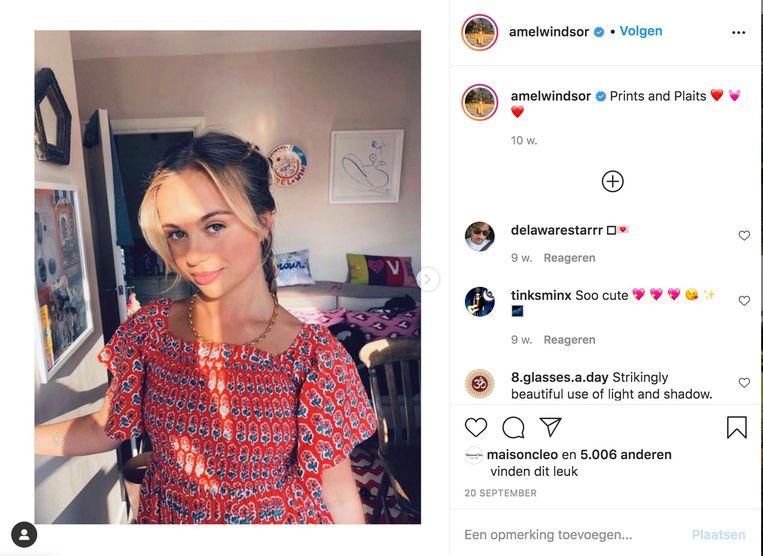 Lady Amelia Windsor. Beeld Instagram