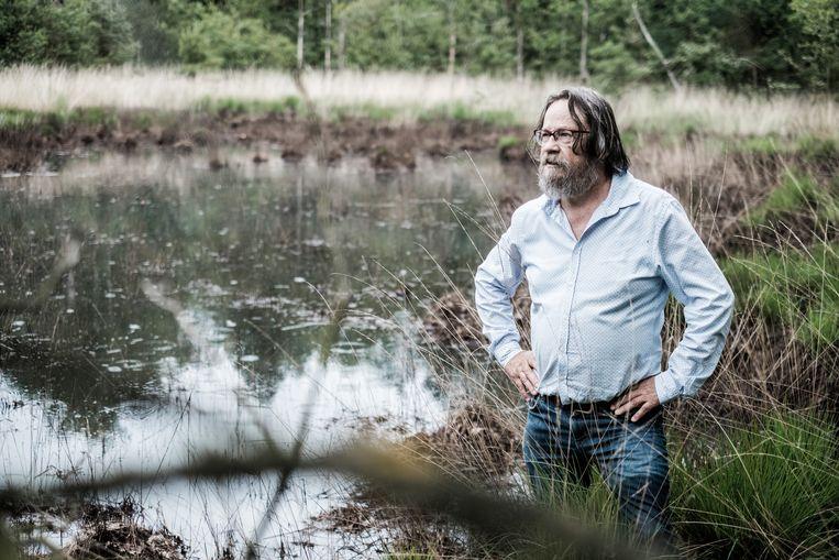 Erik Van den Abbeele in de Groene Delle: 'De lobby regeeert en daartegen komen wij in het verweer.' Beeld Bob Van Mol
