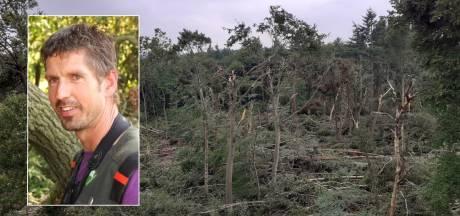 Deel van Lombokbos bij Leersum weggevaagd door storm: 'Er is niks meer van over'